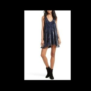 Free People Womens Ellie Burnout Boho Velvet Dress